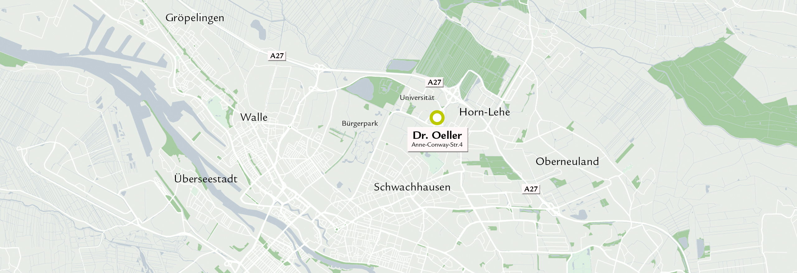 Karte Lage Praxis Dr. Oeller